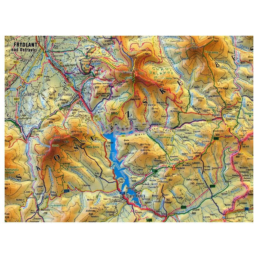 Beskydy 1 66 666 Plasticka Mapa 100 X 75 Cm Nastenne Mapy