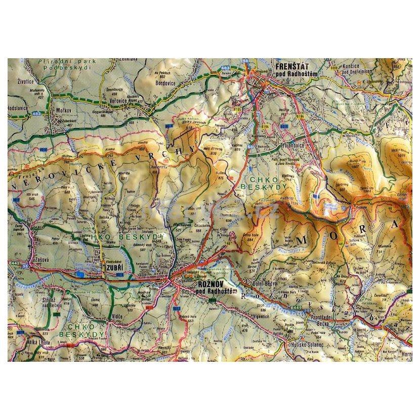 Valassko Plasticka Mapa 100 X 75 Cm