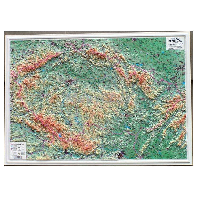 Ceska Republika Plasticka Mapa 103 X 73 Cm Nastenne Mapy