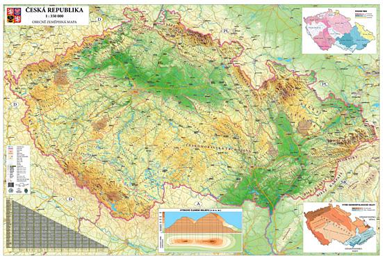 Skolni Nastenne Mapy Ceska Republika Evropa Svet Kontinenty