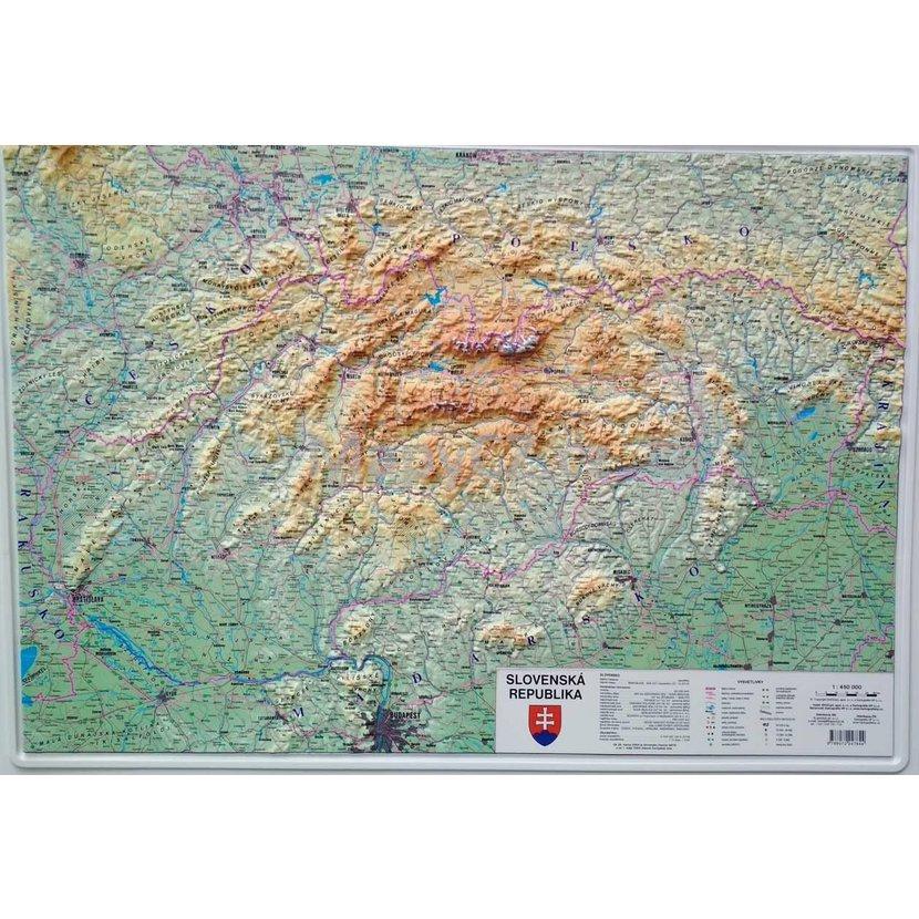 Slovensko Plasticka Mapa 103 X 73 Cm Nastenne Mapy Mapycz Cz